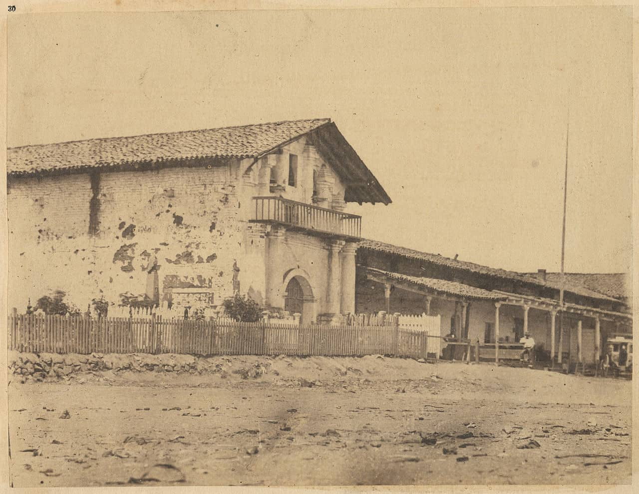 Misssion San Francisco De Asis old photo from 1856