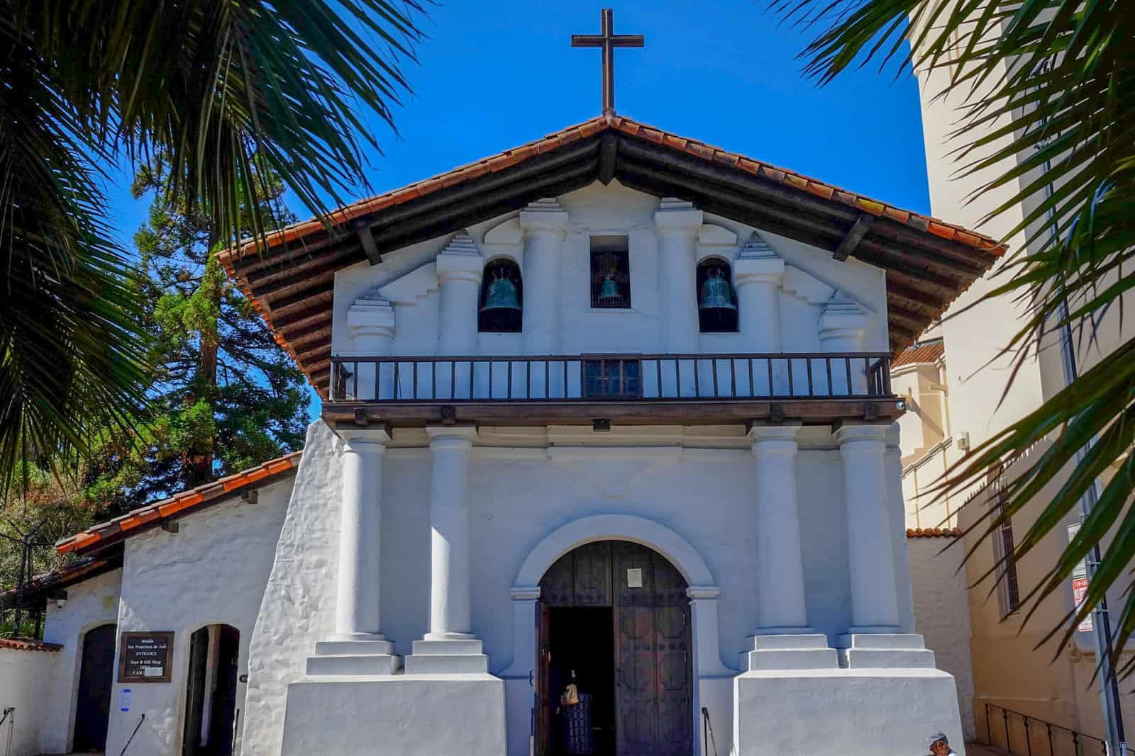 Mission San Francisco De Asis old church facade