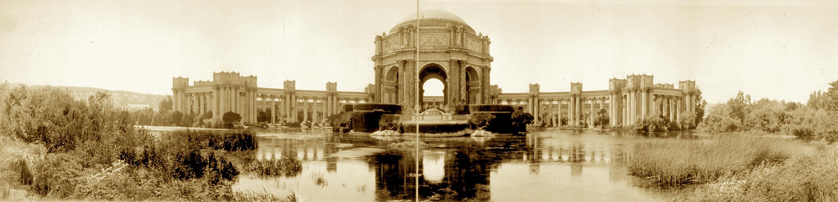 Original Palace of Fine Arts Panorama 1918