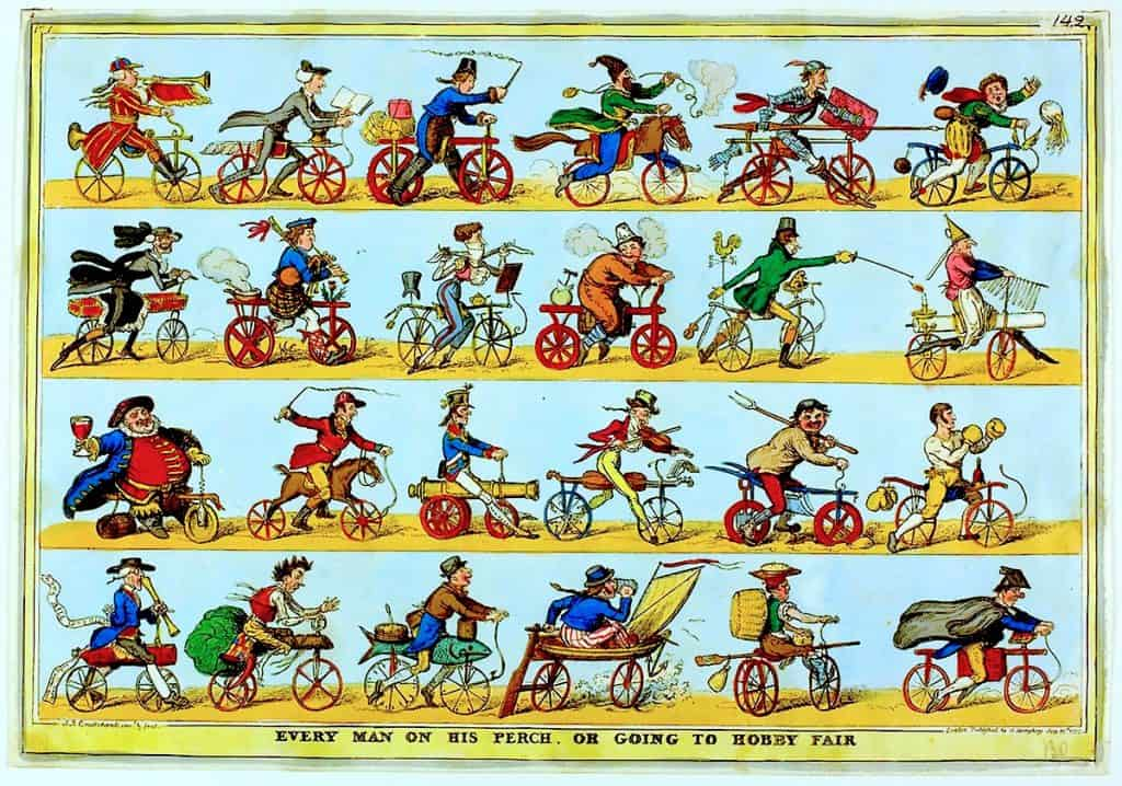 Dandyhorse comic bike riders