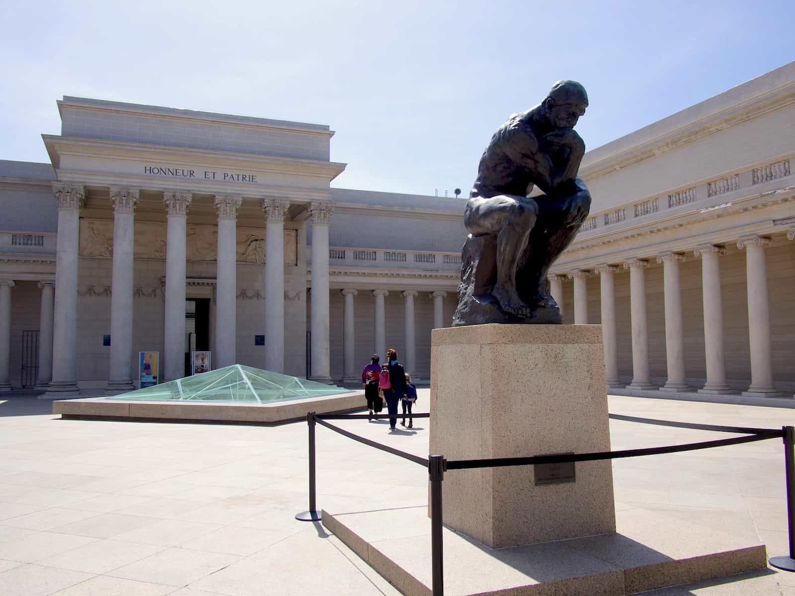 Rodin The Thinker Statue in the Courtyard of Legion of Honor