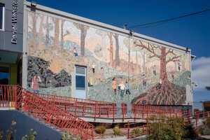 A brilliant mosaic art piece at a school in Potrero Hill