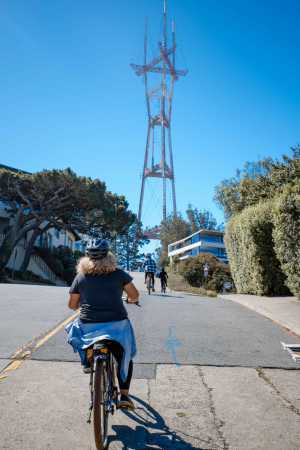 The awesome ride up to SF's famous Sutro Tower