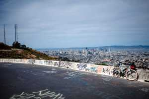 Enjoy the car-free roads and breathtaking view of Twin Peaks