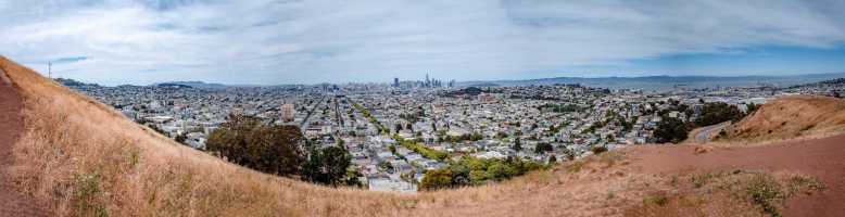 The unique SF panoramic views from Bernal Heights Park