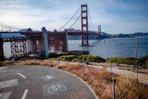 Ride the best pathways onto the Golden Gate Bridge