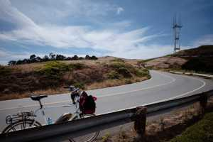 The blissful ride up Twin Peak with a view of Sutro Tower