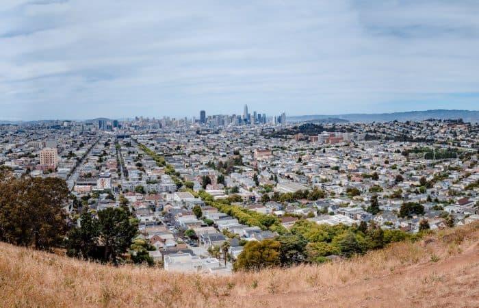 Bernal Heights Park panoramic view